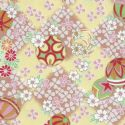 Floral yuzen, Assorted colours, 59.5cm x 44cm, 1 sheet, [WJ170]